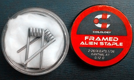 Coilology Framed Staple Alien Kanthal A1 Handcrafted