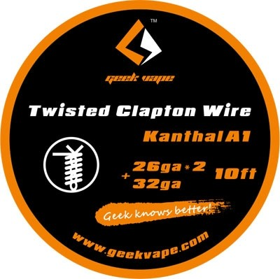 Geek Vape Twisted Clapton Wire (26ga*2/32ga) KA1